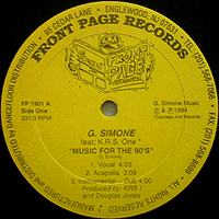 G. SIMONE | MUSIC FOR THE 90'S